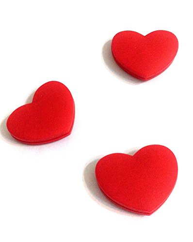 Silicone Vibration Dampeners for Tennis Squash Racket Pack of 3 (Love Heart)