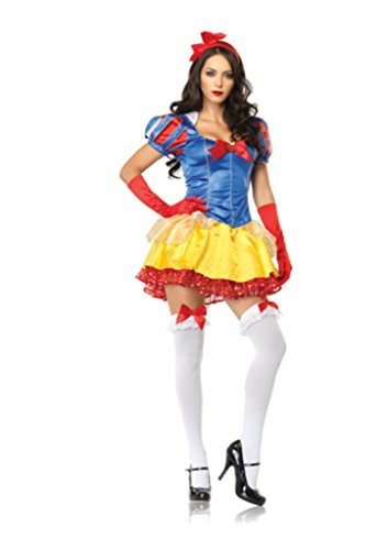 Leg Avenue Womens Snow White Disney Princess Outfit Fancy Dress Sexy Costume