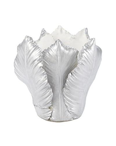 Et Al Designs Silver Leaf Candle Holder