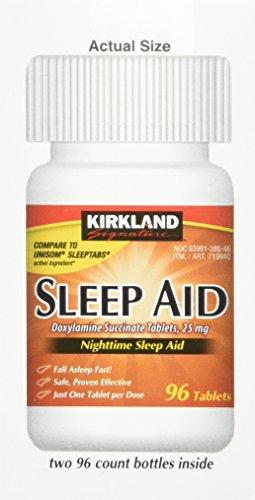 Kirkland signature kirkland sleep aid doxylamine succinate 25 mg 192