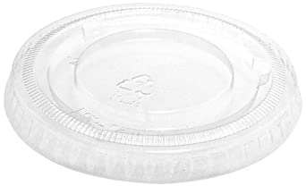 "IFN Green 25-1178-N Green Ease PLA Flat Lid, 3.16"" Diameter x 0.32"" Height, For 3.5, 4.5, 7 and 10 oz Cups (Case of 1000)"