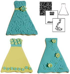 Autumn Carpenter Designs Dress Cookie Cutter & Impression Mat Set