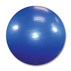 Burst Resistant Yoga/Exercise Ball with Pump, Royal Blue, 65 cm diameter