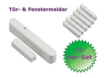 Premium Pack Olympia 59072 Tür / Fensterkontakt   6 Stück Für Alarmanlage  Protect 5080/6060/906076571