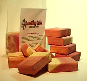 24 Cedar Wood Blocks - Moth Repellent
