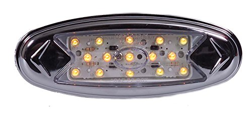 Maxxima M27005Ycl Amber 'Pete' Style Led Clear Lens Clearance Marker Light With Stainless Steel Bezel