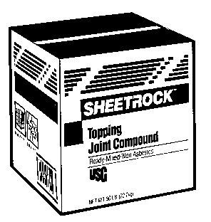 Buy SHEETROCK TOPPING JOINT COMPOUND (SHEETROCK Painting Supplies,Home & Garden, Home Improvement, Categories, Painting Tools & Supplies, Wallpaper Supplies, Wall Repair)
