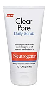 Neutrogena Clear Pore Daily Scrub, 4.2 Fluid Ounce (Pack of 6)