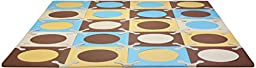 Skip Hop Baby Infant & Toddler Playmat with Interlocking Foam Floor Tiles, Blue / Gold