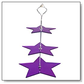 3 Tier Purple Mirror Acrylic Star Cake Stand 15cm 19cm 23cm Overall height 32cm