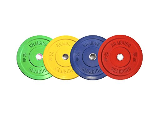 Kraiburg 230 lb Premium Color Weight Set Olympic Rubber Bumper Plates for Crossfit Powerlifting (Eleiko Bumper Plates compare prices)