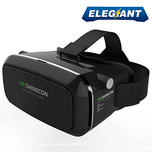 Elegiant vr headset 3d vr glasses compatible for android ios iphone