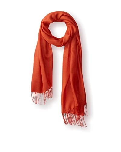 Alicia Adams Alpaca Women's Plainweave Silk Wrap, Firecracker