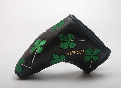 HIFROM(TM) Golf Putter Head Cover headcover Shamrock Embroidered Blade Fit All Brands (Golf Blades compare prices)