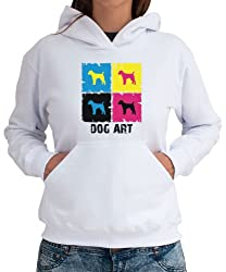 Jack Russell Terrier DOG ART POP ART Womens Hoodie