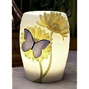 Blue Butterfly & Gerber Daisy Night Lamp