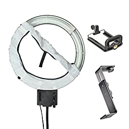 40W Ring Lamp Light + Camera Bracket + Mobile Phone Holder + Diffuser 110V