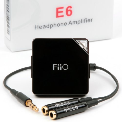 Fiio E6 Headphone Amplifier With Micca Y Cable