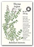 Botanical Interests 6079 Thyme English Organic Seed Packet