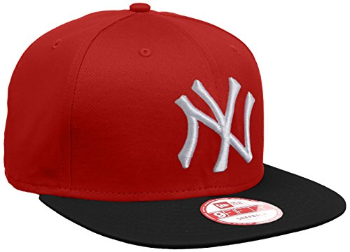 New Era - Baseball Cap Mütze MLB 9 Fifty Block NY Yankees Snapback, Baseball Cap Hat unisex, Scarlet/Black/White, S/M
