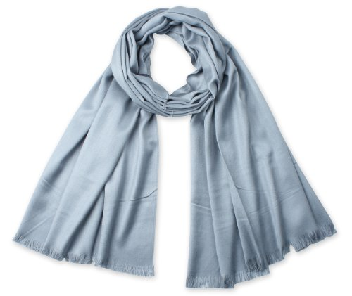 Corciova?? Silky and Drooping Tassel Ends Women's Scarf Grey