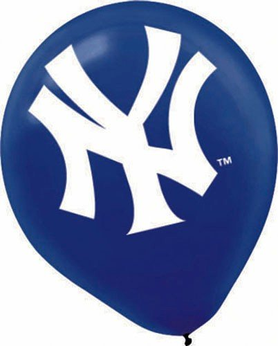 New York Yankees 12in Latex Balloons 6ct [Health and Beauty] [Toy]