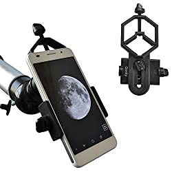 Gosky Universal Cell Phone Adapter Mount - Compatible with Binocular Monocular Spotting Scope Telescope and Microscope - For Iphone Sony Samsung Moto Etc -Record the Nature of the World