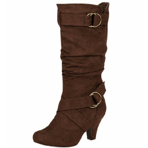 Wild Diva Women's Lala-02 Brown Suede Leather
