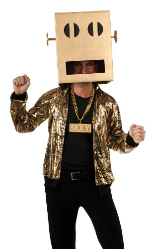 Rubie's Costume Lmfao Party Rock Anthem Shuffle Bot Headpiece, Brown, One Size Costume (Lmfao Robot compare prices)