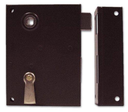 Serratura da Applicare Scrocco e Catenaccio Bonaiti Art.185 Mis. 60 mm Verso Sx
