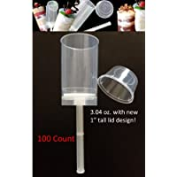 Push Pop Containers with Lids 100 Count