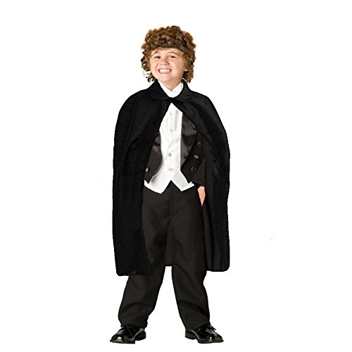 Dazzling Toys Children's Black Magician Cape (D290) - 1