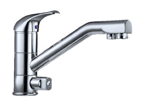 3 Way Tap, Chrome Kitchen Mixer tap with Separate Filtered Water Lever and separate internal spout