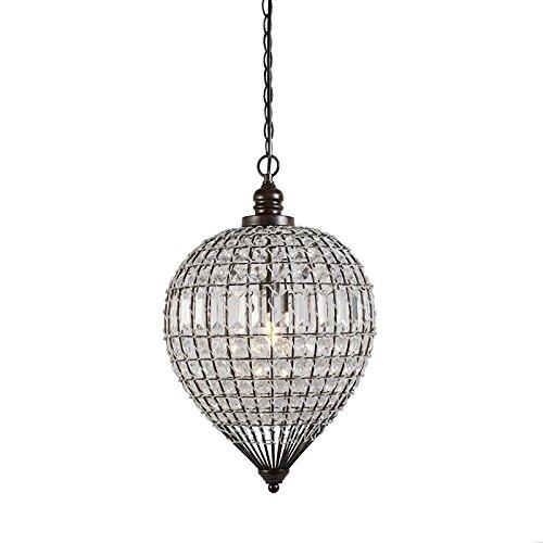 qazqa-clasico-antiguo-rustico-lampara-colgante-perlina-1-transparente-plastico-metal-redonda-adecuad