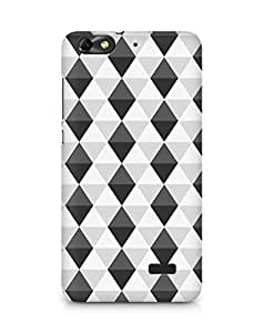 AMEZ Black n White Pattern9 Back Cover For Huawei Honor 4C
