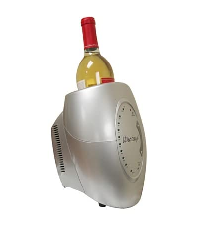 Vinotemp One-Bottle Wine Chiller, Silver As You See