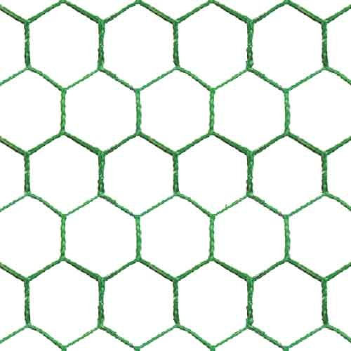 25m 4 foot high Green PVC Coated Galvanised Wire Mesh Chicken Rabbit Fencing