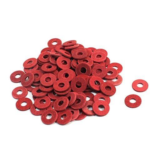 sourcingmap-a14032900ux0543-100-pezzi-rondelle-di-isolamento-rosso-meson-m3-od-8mm