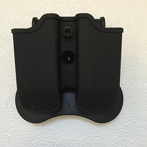Fast Draw Glock Double Magazine Holder Paddle Pouch Fit (17,19,22,23,31,32,34,35) Retention Adjustable & 360 Degree Rotation Polymer Black (Glock 35 Magazine compare prices)
