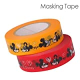 Disney Characters Masking Tape (Love Love Mickey and Minnie/ Red x Yellow)