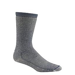 Wigwam Men's Merino Wool Comfort Hiker Crew Length Sock,Denim,Medium