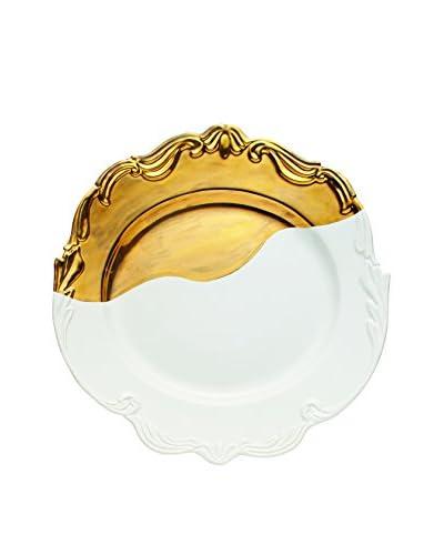 Bridget Parris for Magenta Oh So Fountainbleu Serving Platter, White/Gold
