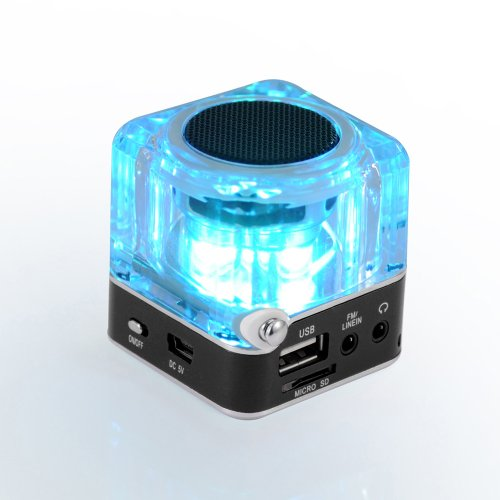 Generic Tt028 Portable Mini Card Speaker Small Audio Subwoofer Usb Flash Drive Mp3 Player Radio Black Color
