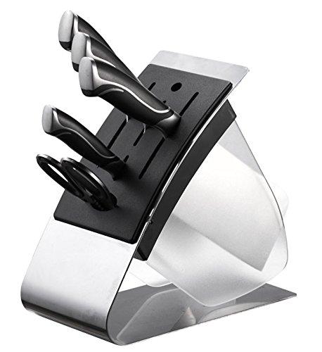 Modern German Steel 6 Piece Knife Block Set