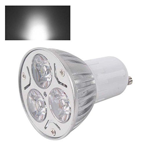 Gu10 9W 3X3W Led Spot Light Downlight Lamp Bulb Pure White Ac85-265V Fashion Partical
