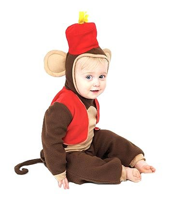 Paper Magic Group Fez Monkey Costume, Brown/Red, 12 - 18 Months (Paper Magic Group Costumes)