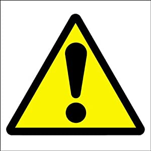 Hazard Warning Safety Sign - General Hazard Symbol
