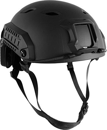 US-Paratrooper-Schutzhelm-mit-Aufnahmeschienen-und-Innenpolsterung-Farbe-Schwarz