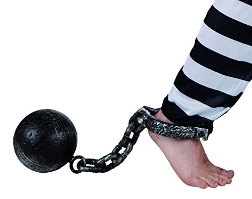 Boland 00613 - Palla al Piede da Carcerato 60 cm, Diametro 17 cm, Grigio