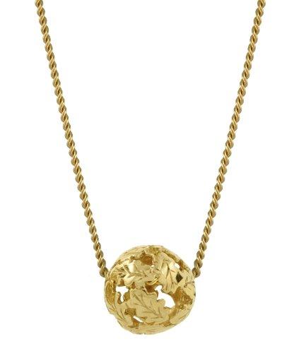 Oak Fine Jewellery Swept Away 18ct Gold Vermeil Pendant on an 18 Inch Chain